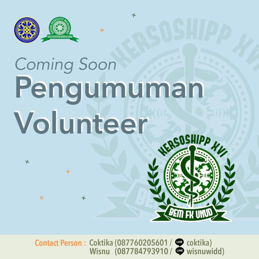 [COMING SOON PENGUMUMAN VOLUNTEER]