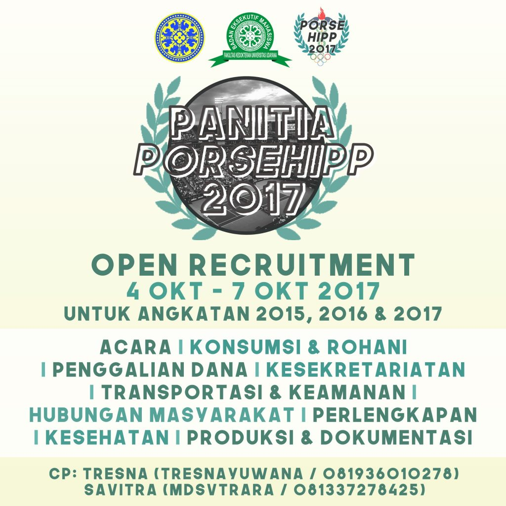 OPEN RECRUITMENT PANITIA PORSEHIPP 2017
