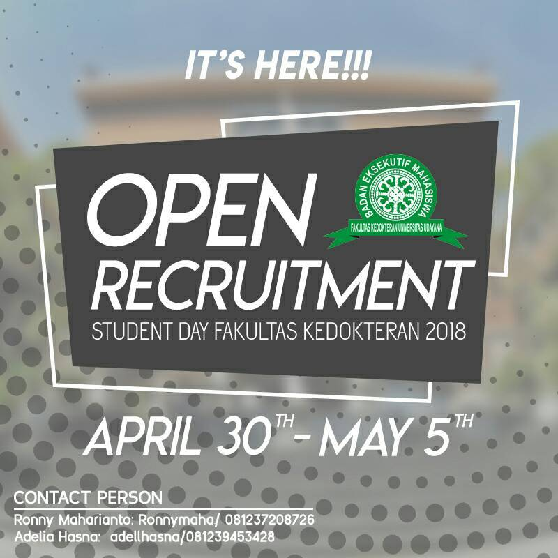 OPEN RECRUITMENT PANITIA SDFK 2018
