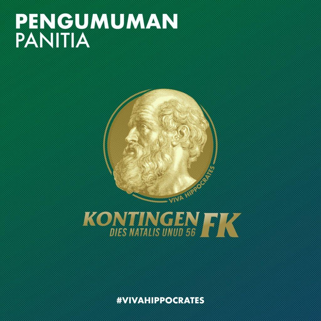 PENGUMUMAN HASIL OPEN RECRUITMENT PANITIA KONTINGEN FK DIES NATALIS UNUD 56