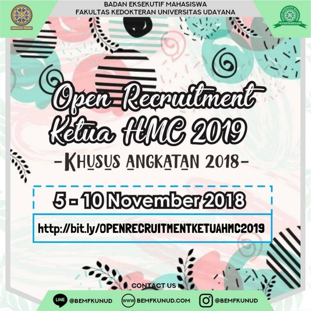OPEN RECRUITMENT KETUA HMC 2019