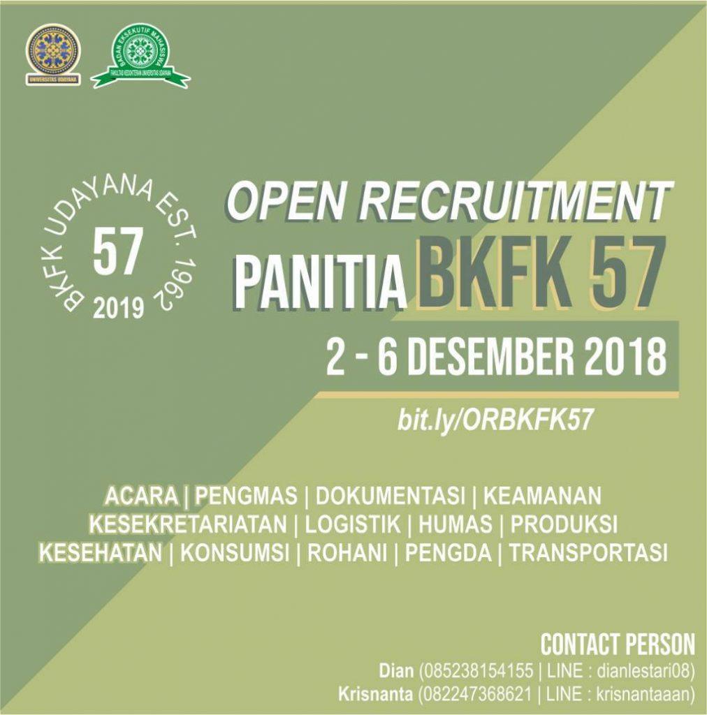OPEN RECRUITMENT PANITIA BKFK-57