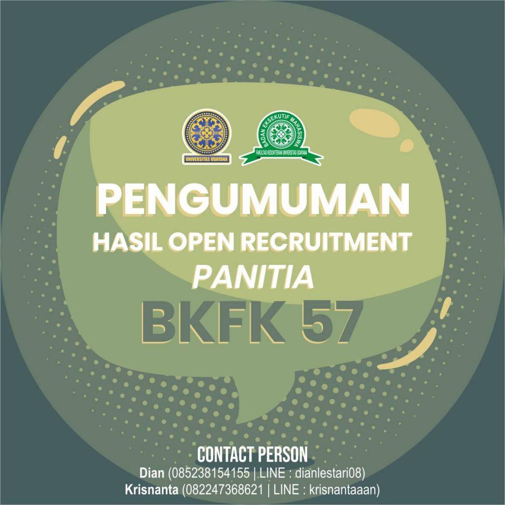 PENGUMUMAN HASIL OR PANITIA BKFK-57