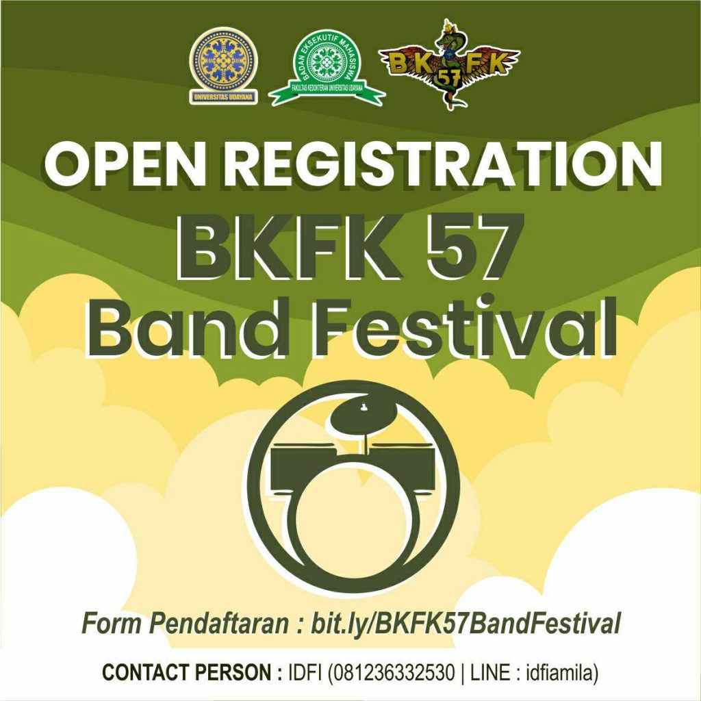 OPEN REGISTRATION FESTIVAL BAND BKFK 57