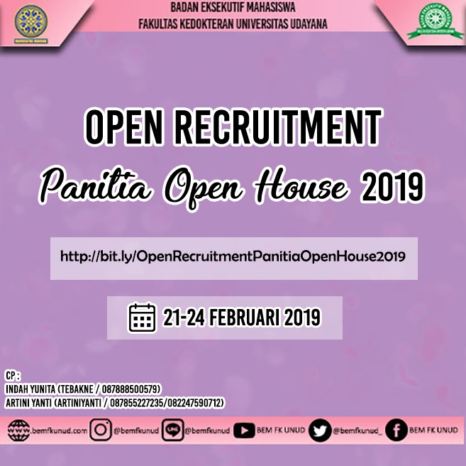 OPEN RECRUITMENT PANITIA OPEN HOUSE 2019