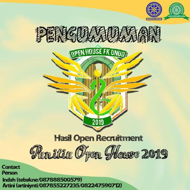 PENGUMUMAN HASIL OPEN RECRUITMENT OPEN HOUSE 2019