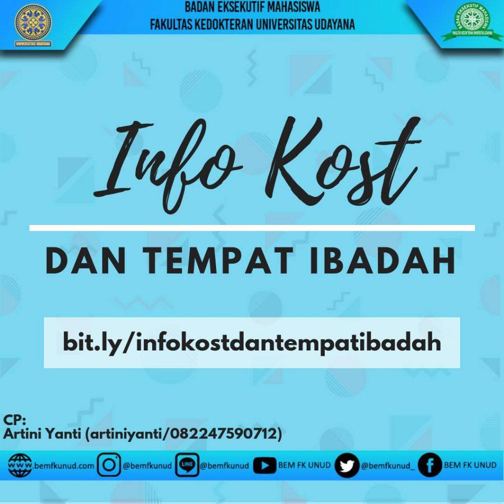 INFO KOST DAN TEMPAT IBADAH