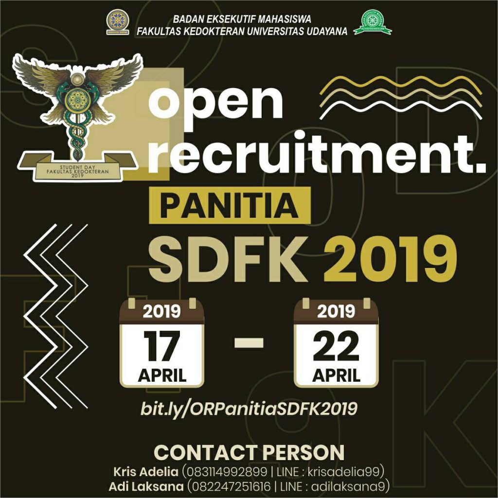 OPEN RECRUITMENT PANITIA SDFK 2019