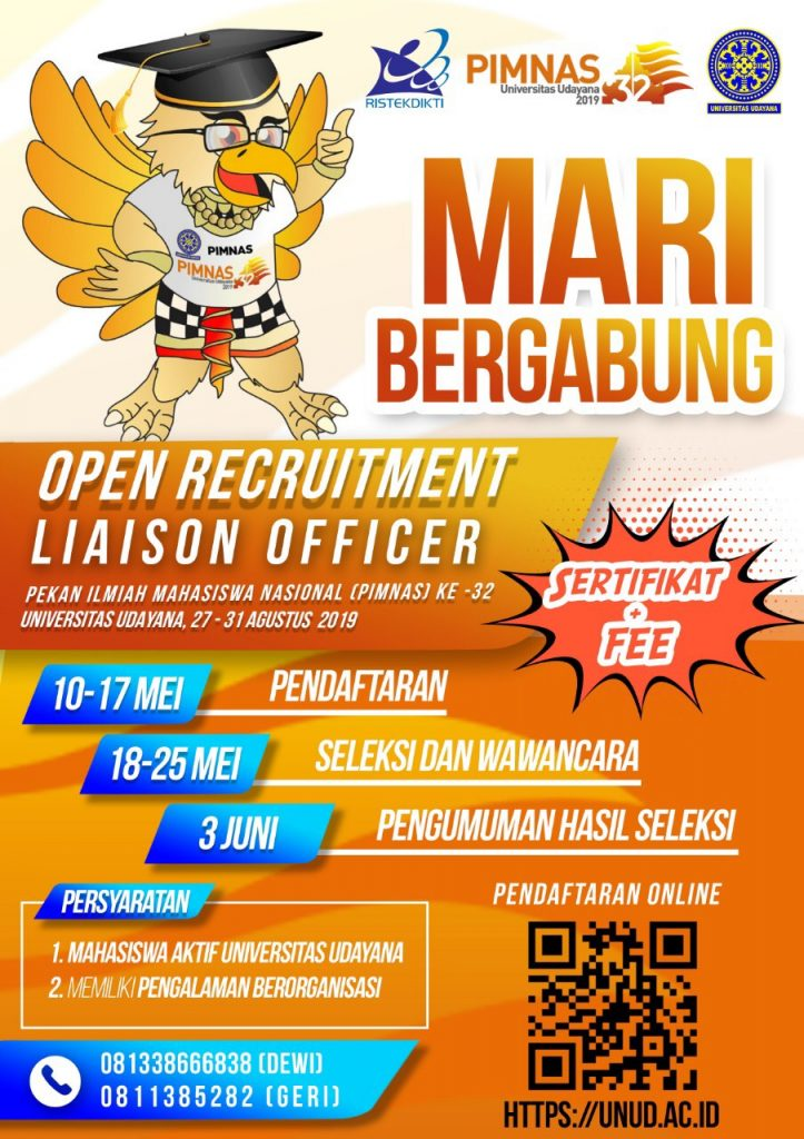 OPEN RECRUITMENT LIAISON OFFICER PIMNAS 2019