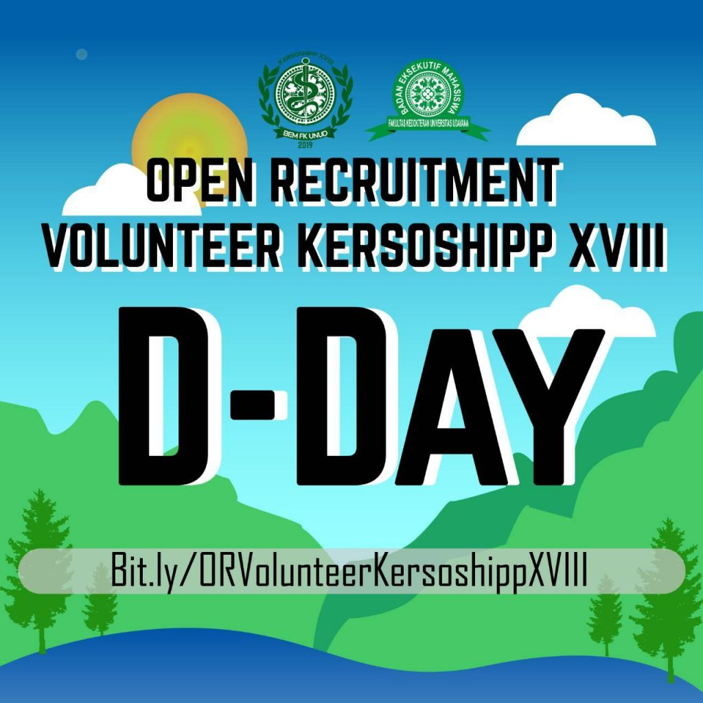 OPEN RECRUITMENT VOLUNTEER KERSOSHIPP XVIII