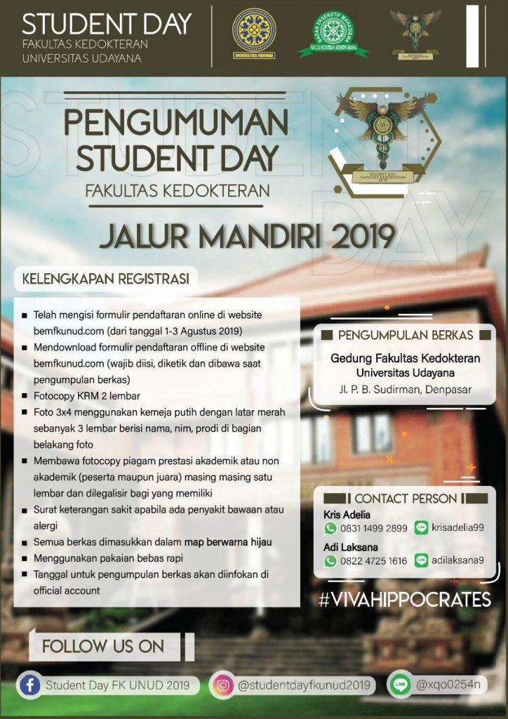 REGISTRASI ONLINE SDFK 2019 MABA JALUR MANDIRI