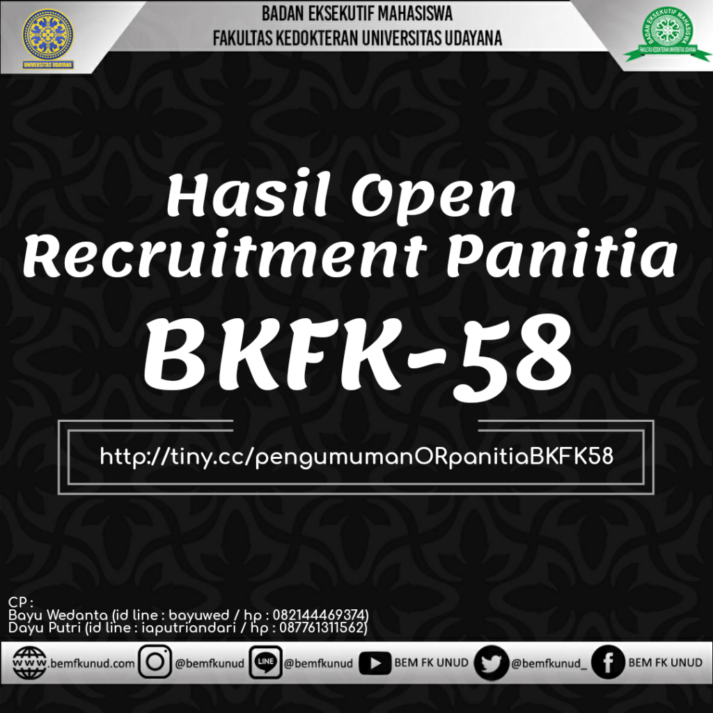 Hasil Open Recruitment Panitia BKFK-58