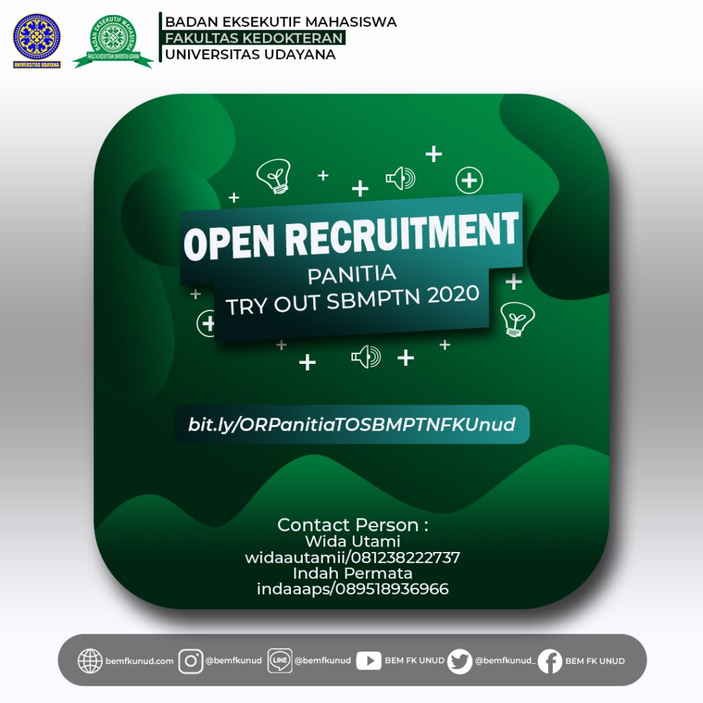 Open Recruitment Panitia Try Out SBMPTN 2020