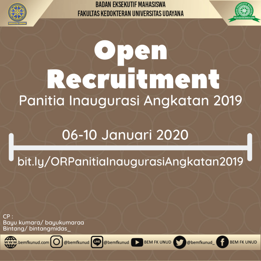 Open Recruitment Panitia Inaugurasi Angkatan 2019