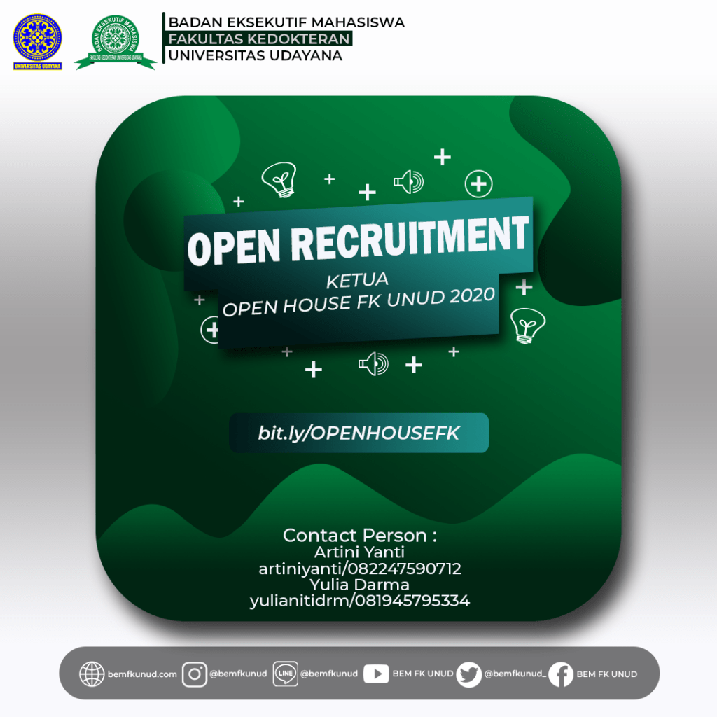 Open Recruitment Ketua Open House FK Unud 2020