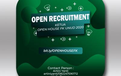 [Tutup] Open Recruitment Ketua Open House FK Unud 2020