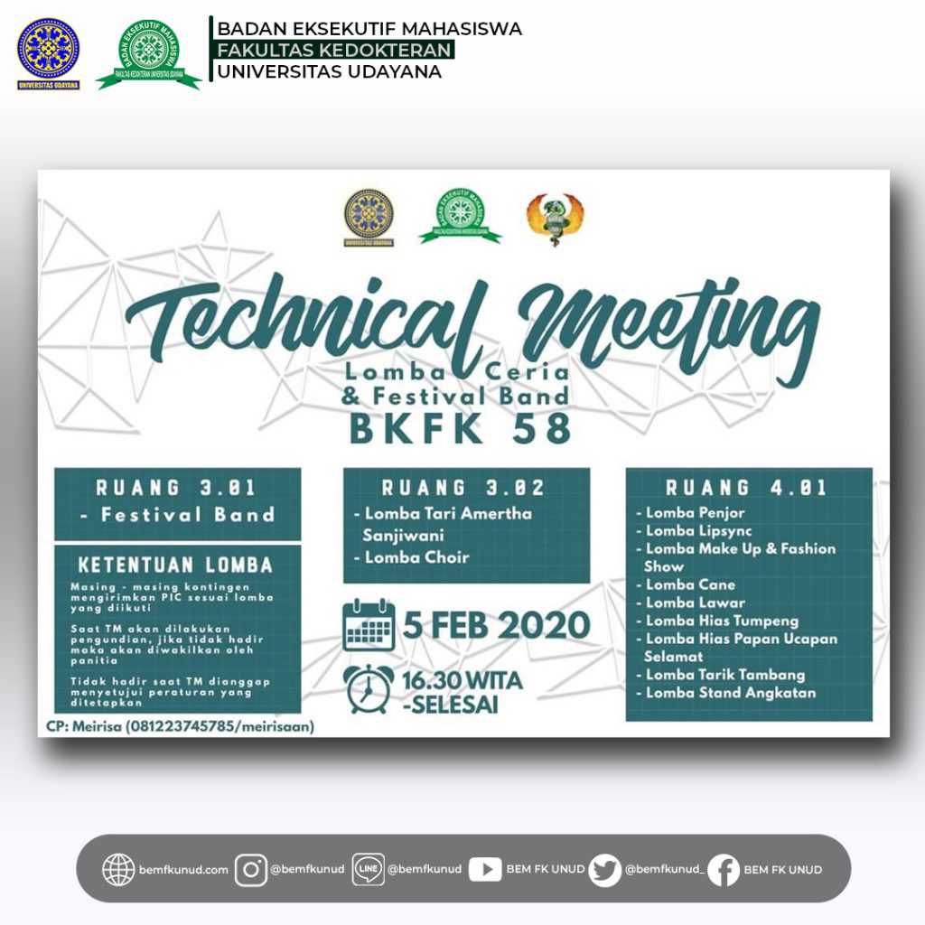 Technical Meeting Lomba Ceria BKFK 58