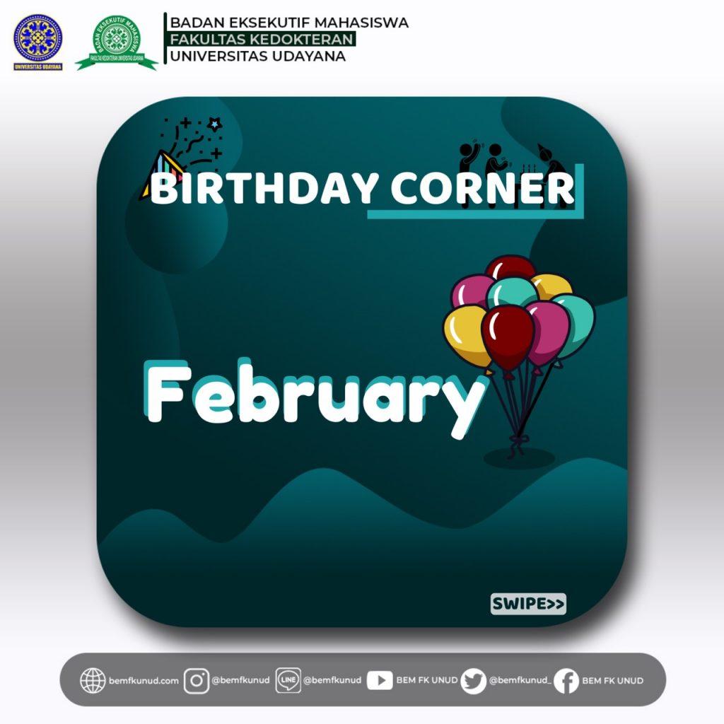 Birthday Corner Februari 2020