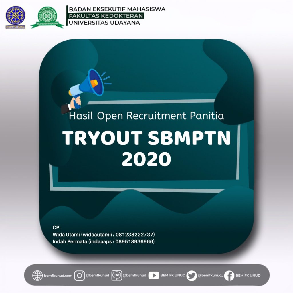 Pengumuman Hasil Open Recruitment Panitia TO SBMPTN 2020