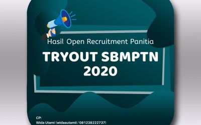 Pengumuman Hasil Open Recruitment Panitia TO SBMPTN 2020