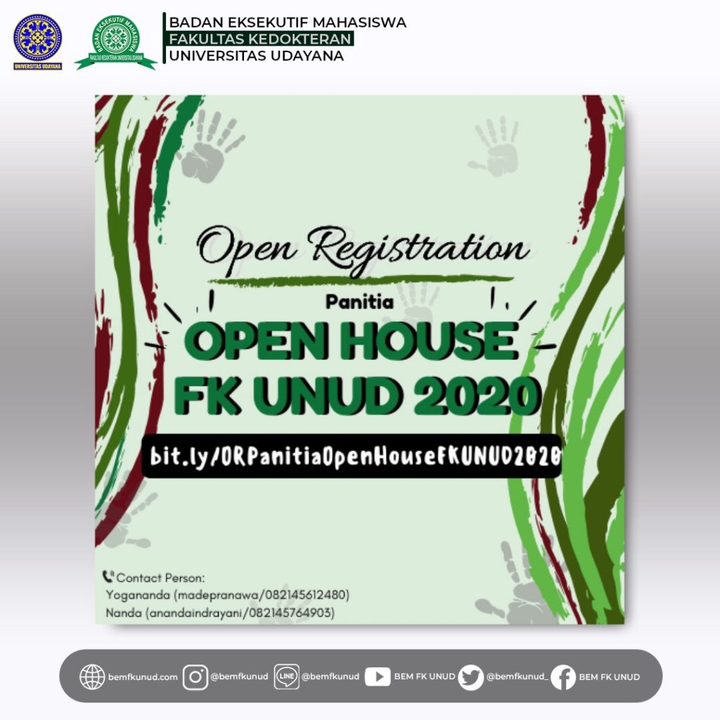 Open Recruitment Panitia Open House 2020