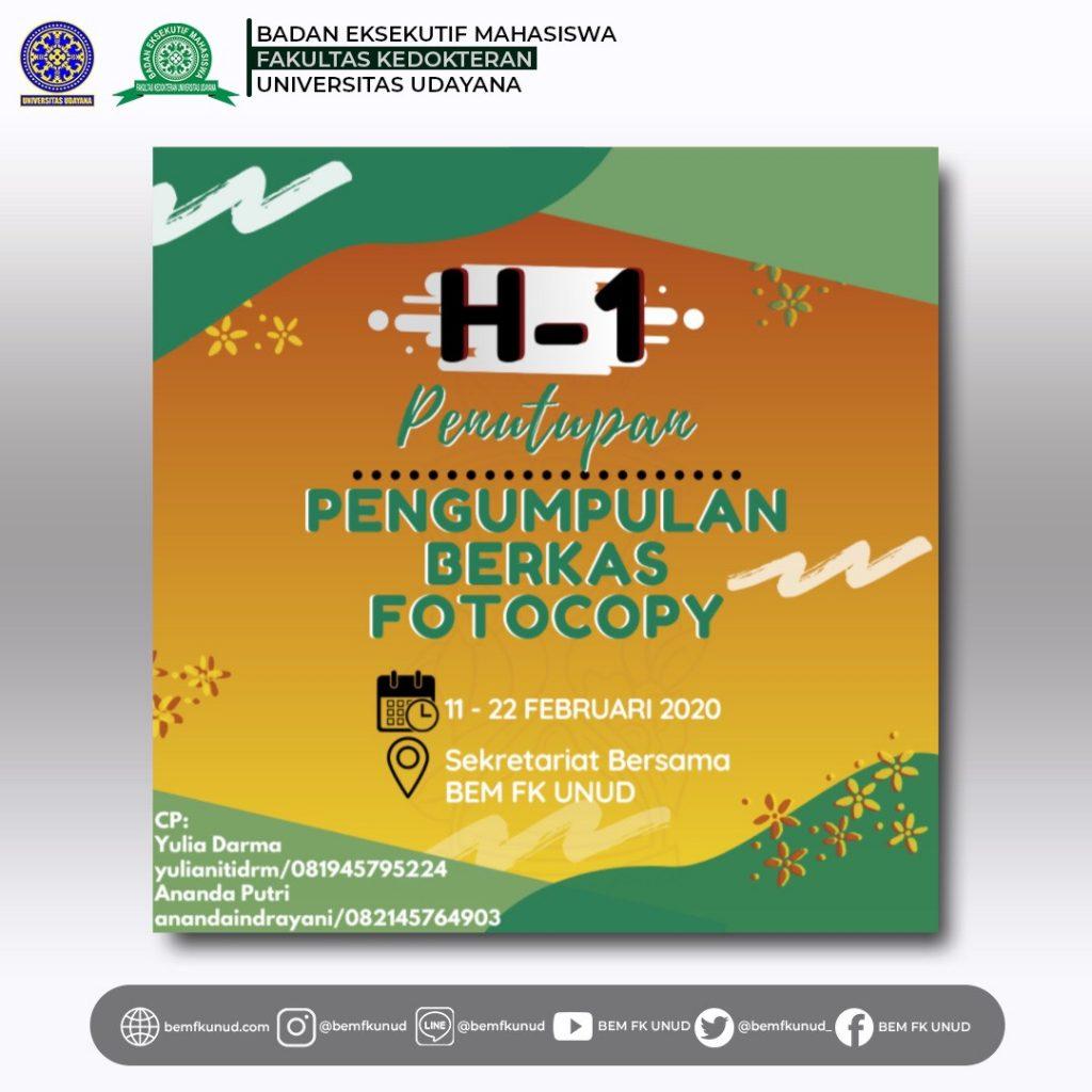 H-1 Last Day Open Registration & Pengumpulan Berkas Peserta Malam Apresiasi 2020