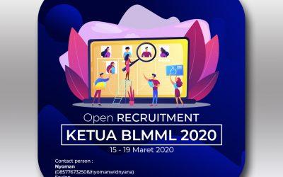[Tutup] Open Recruitment Ketua BLMML 2020
