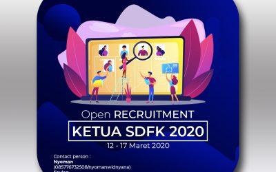 [Tutup] Open Recruitment Ketua SDFK 2020
