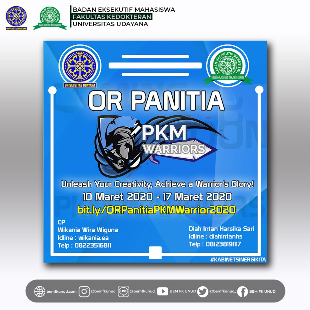 Open Recruitment Panitia PKM Warrior 2020