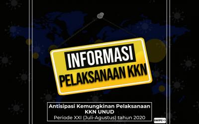 Pelaksanaan KKN Unud Periode XXI Tahun 2020