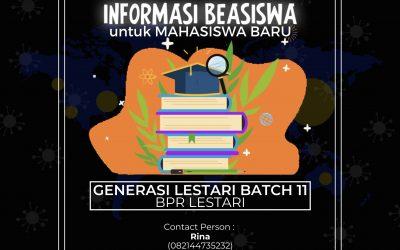 Info Beasiswa BPR Lestari Batch 11