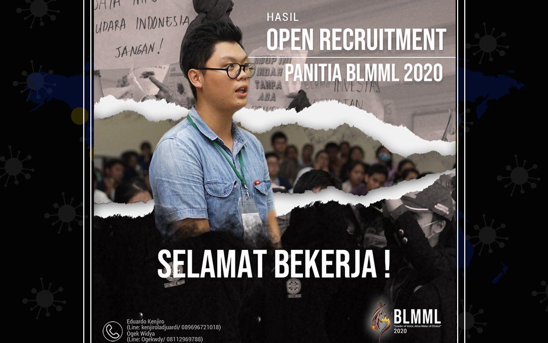 Hasil Open Recruitment Panitia BLMML 2020