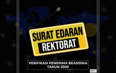 Verifikasi Penerima Beasiswa Tahun 2020
