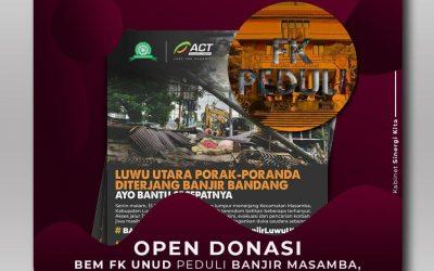 Open Donasi Peduli Banjir Masamba, Luwu Utara