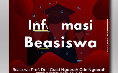 Beasiswa Prof. Dr. I Gusti Ngoerah Gde Ngoerah