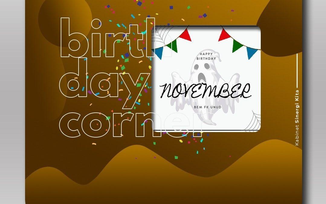 Birthday Corner November 2020