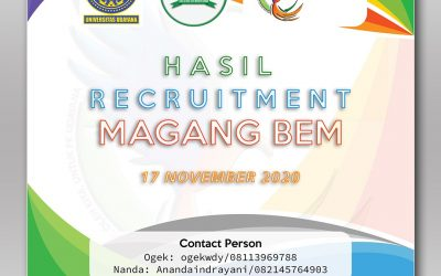 Hasil Open Recruitment Magang BEM 2020