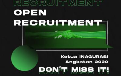 Open Recruitment Ketua Inagurasi Angkatan 2020