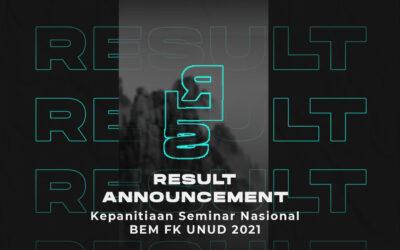 Hasil Open Recruitment Seminar Nasional BEM FK Unud 2021