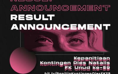 Hasil OR Panitia Kontingen Dies Natalis FK Unud ke-59